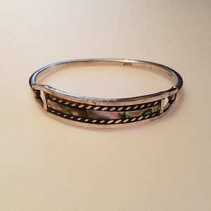 Jewelry - Vintage Gorgeous Mexican Silver/Opal Bracelet
